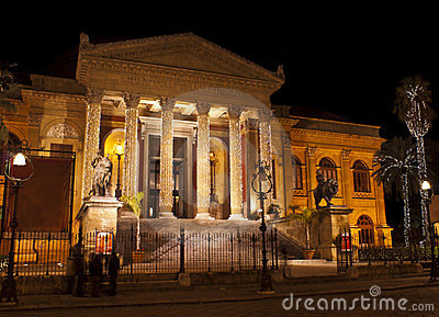 Theatre Massimo by night.Palermo