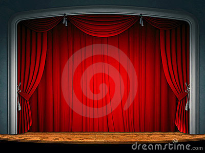 Theatre Stage Curtain Stock Photography - Image: 7560072