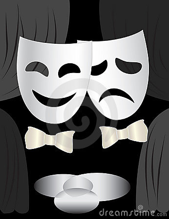 Theatre stage & masks