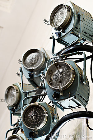 Theatrical lighting spotlight system