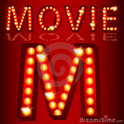 Theatrical Lights MovieText