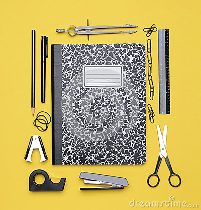 Theme Book with School Supplies