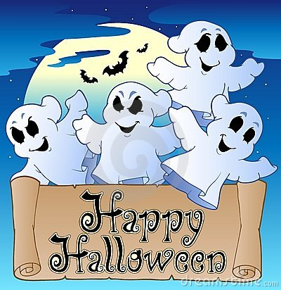 Theme With Happy Halloween Banner 2 Royalty Free Stock Photo - Image: 20936225