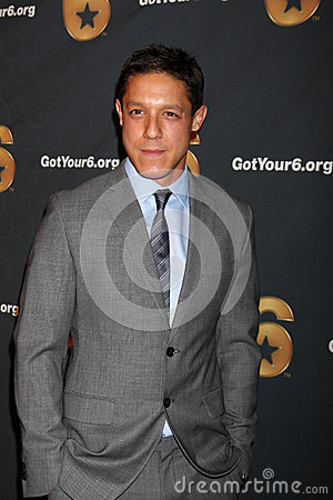 Theo Rossi arrives at the Launch of Got Your 6 Editorial Stock Photo