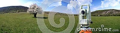 Theodolite survey outdoors