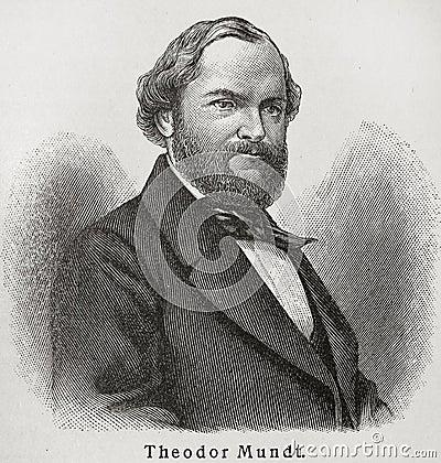Theodor Mundt Editorial Stock Image