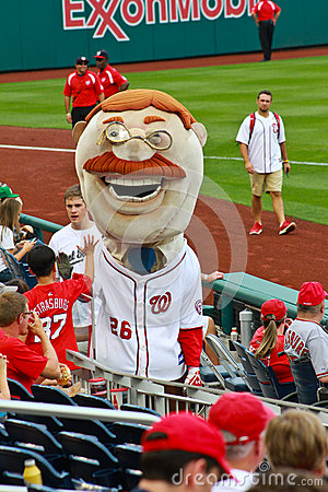 Theodore Roosevelt mascot (Nationals MLB) Editorial Photography