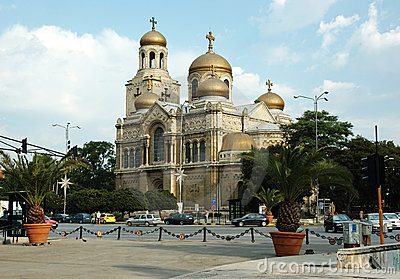 Theotokos Cathedral - most popular place in Varna Editorial Photography