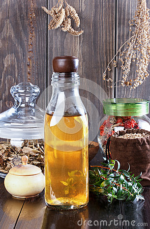 Free Therapeutic Herbal Tincture, Alternative Medicine, Love Potions, Stock Photography - 66058762