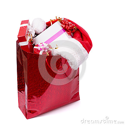 There are many presents in the red box