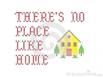 There s no place like home embroidery