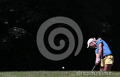 Therese Larsson at the Fourqueux golf Ladies Open Editorial Stock Image