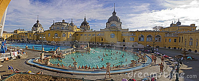 Thermal Bath and Spa in Budapest Editorial Photo