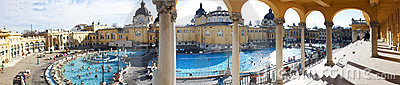 Thermal Bath and Spa in Budapest Editorial Stock Image