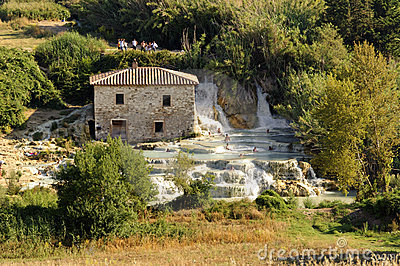 Thermal baths at Saturnia (Tuscany, Italy) Editorial Stock Image