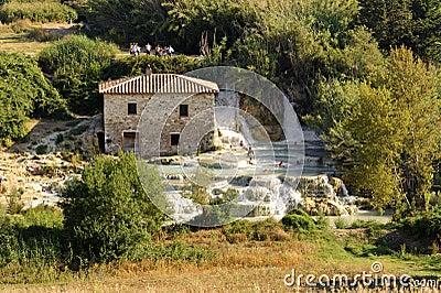 Thermal baths at Saturnia (Tuscany, Italy) Editorial Stock Image