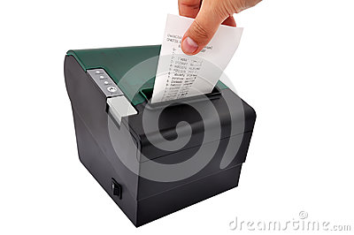 Thermal printer and check