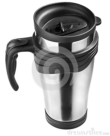 Free Thermo Mug Isolated On White, Steel Cup Royalty Free Stock Images - 69462599