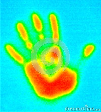 Thermografiek-hand af:drukken