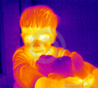 Thermograph-Boy with teddy