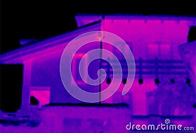 Thermograph för 2 hus