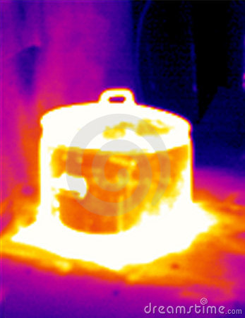 Thermograph- Steaming pot 2