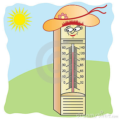 Royalty Free Stock Photography: Thermometer Cartoon Character