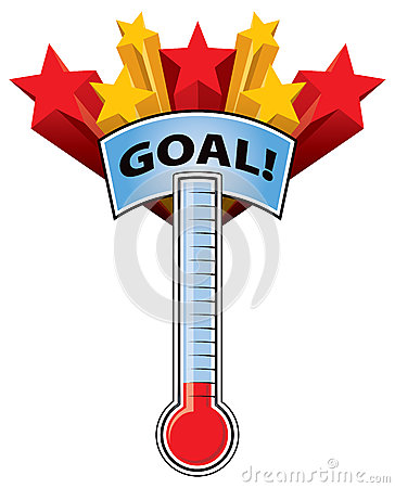 Thermometer Goal Vector Illustration