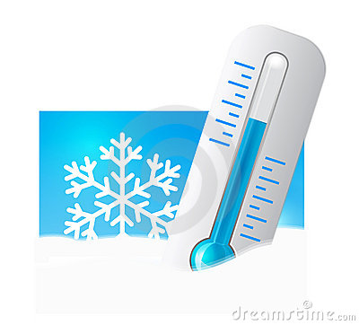 Free Thermometer In The Snow Stock Photo - 23090880