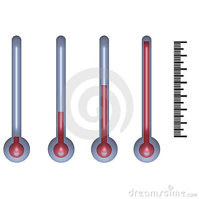 Thermometer on the white background