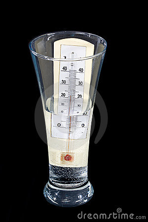 Thermometr In Glass Stock Photo - Image: 7993940