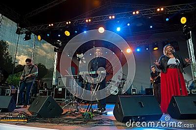 Therr Maitz group performs at Usadba Jazz Festival Editorial Photography