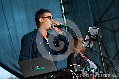 Therr Maitz group performs at Usadba Jazz Festival Editorial Stock Photo
