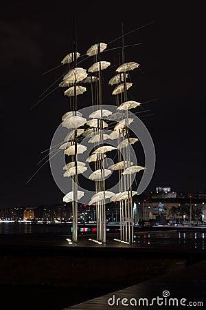 Free Thessaloniki Umbrellas Sculpture Stock Photo - 68870240