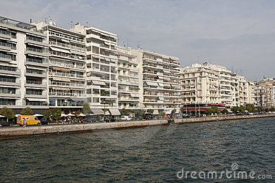 Thessaloniki - View of the seafront Editorial Photography