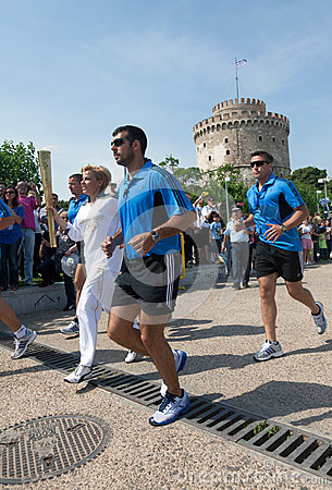 Thessaloniki welcomes Olympic Torch Editorial Image