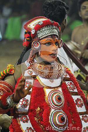 Free THEYYAM Royalty Free Stock Photography - 129901467