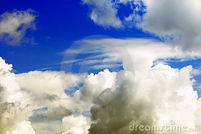 Thick clouds background