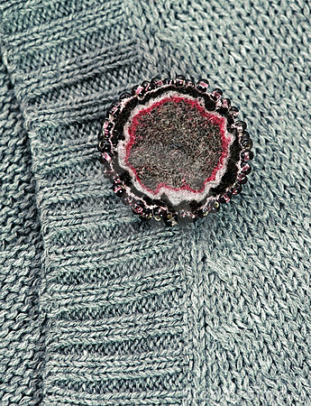 Thick felt brooch