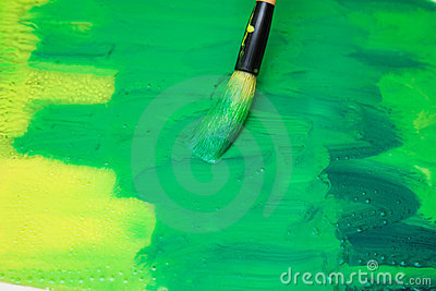 Thick layer of paint on glass surface stock images image for Paint for glass surfaces