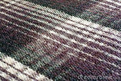 Thick plaid Mexican blanket