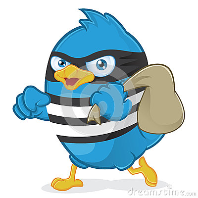 Free Thief Blue Bird Royalty Free Stock Images - 36559769