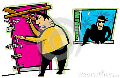 Thief breaks into house