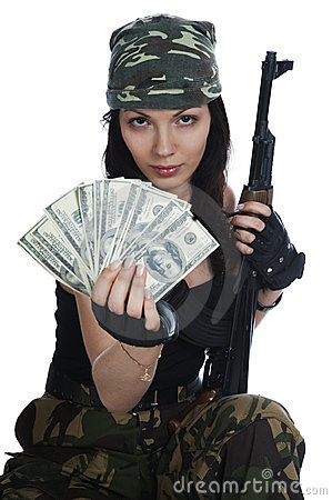 Free Thief Girl In Camouflage Stock Photos - 7376363