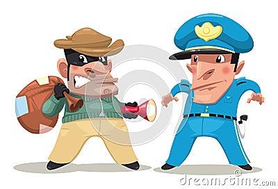 Thief and guard.