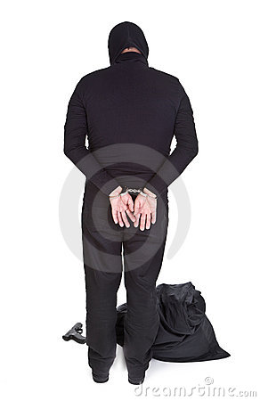Thief handcuffed
