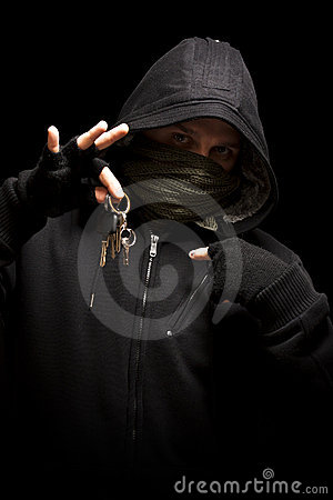 Thief with keys