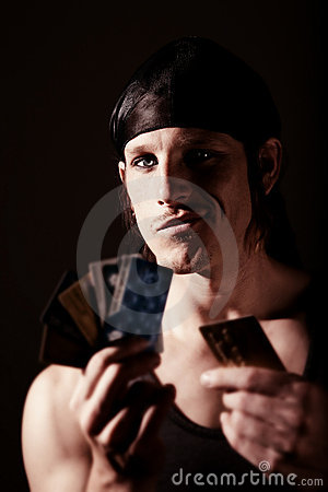 Free Thief With Credit Cards Stock Photo - 12125110