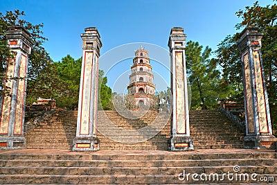 Thien Mu Pagoda, Hue, Vietnam.