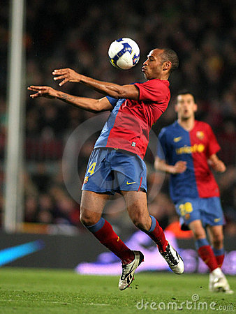 Thierry Henry FC Barcelona Editorial Stock Image